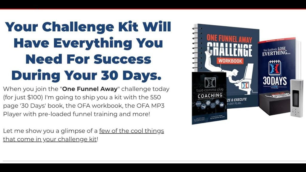 One Funnel Away Challenge Kit