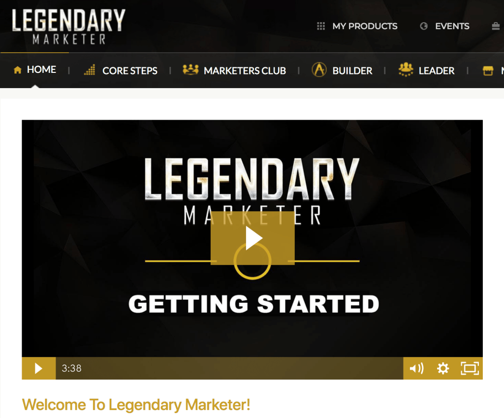 Legendary Marketer Internet Marketing Program Dimensions Width