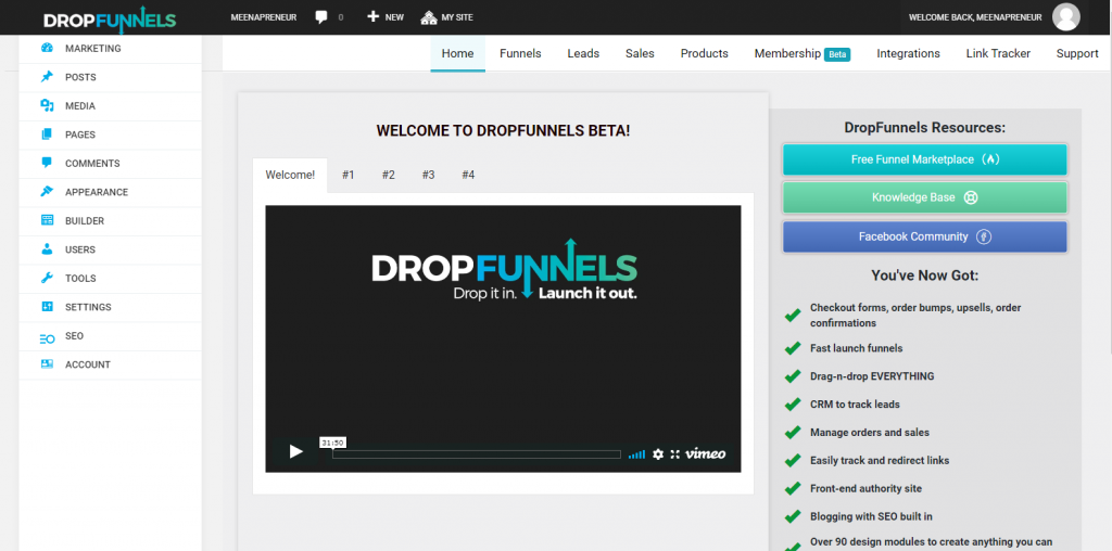 DropFunnels software